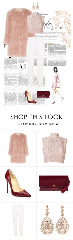 """Classy look!"" by nissaat ❤ liked on Polyvore featuring Topshop Unique, Martha Medeiros, Christian Louboutin, Marni, Chloé and Suzanne Kalan"