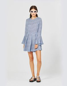 Playsuit, Dresses With Sleeves, Long Sleeve, Casual, Blue, Collections, Shopping, Women, Products