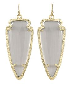 "Skylar Earrings in Slate - Kendra Scott Jewelry. Get them for 15% off tonight ONLY at 5pm CST with code ""ONPOINT15"""