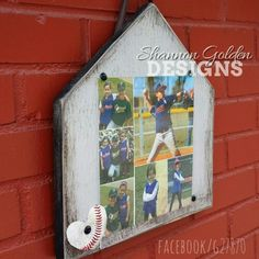 Baseball Home Plate Picture Frame