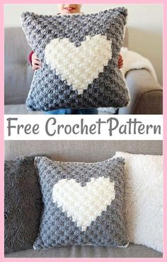crochet pillow patterns Sweetheart Crochet Pillow Cover-These free crochet pillows have a great range of styles designs color textures and also unique stitches So you can add them to any place CrochetPillows freecrochetpatterns crochetpillowpatterns Crochet Pillows, Crochet Pillow Patterns Free, Crochet Cushion Cover, C2c Crochet, Crochet Crafts, Afghan Patterns, Crochet Pillow Cases, Crochet Home Decor, Amigurumi Patterns