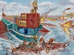 """""""Gnaeus Domitius Corbulo subdues the Chauci, 47 AD"""", Giuseppe Rava"""