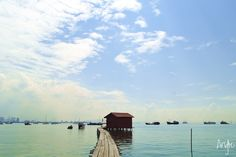 The lonely cabin on the water. Tan Jetty. Penang. Heritage