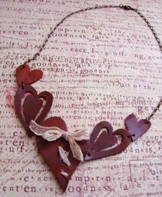 Leather necklace