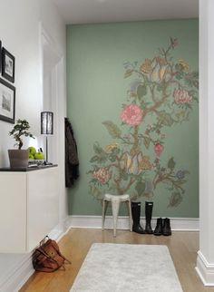 Riesige Blumen Für Den Flur: Wandbild Growing Wild Von Rebel Walls #tapete  #floral