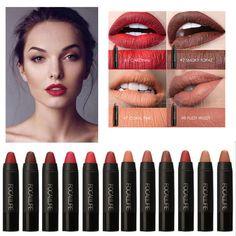 [Visit to Buy] FOCALLURE Brand Sexy Lipstick Waterproof Batom Matte Lip Gloss Rouge a Levre Labial 12 Colors Soft Pencil Nude Makeup Lips #Advertisement