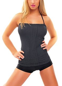 Bandeau Push Up Tankini with Hotpants two pieces 1003BH-W300-f3776