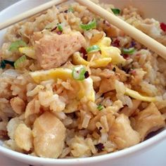 """Chinese Chicken Fried Rice II   """"This was super easy and tasted yummy. I added a some fresh ginger (since I had some) and 2 cloves of garlic."""""""