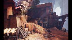 Egypt -- The cave, Ivan Podzorov on ArtStation at https://www.artstation.com/artwork/eWWxY