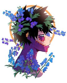 """juniperarts: """"🥀🌼🌿 In the language of flowers monkshood (the ones around Dabi) means 'beware, a deadly foe is near'. Orange mock and snapdragons (the ones around Hawks) mean 'deceit and deception' """" My Hero Academia Shouto, My Hero Academia Episodes, Hero Academia Characters, Anime Characters, Me Anime, Fanarts Anime, Hot Anime Guys, Anime Triste, Anime Boyfriend"""
