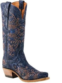 Western Cowboy Boots I Love Blue Cowgirl Boots, Cowgirl Style, Western Boots, Cowboy Hats, Western Style, Cowgirl Tuff, Cowgirl Outfits, Western Cowboy, Country Style