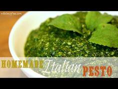 Make Basil Pesto Sauce At Home | Authentic Italian Recipe | #BackToBasics | VitaLivesFree - YouTube