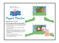 Make your own Peppa Pig puppet scenery and theatres, and create your very own puppet shows at home. Look out for our finger puppets of the characters, to use with this puppet theatre! Please ensure ALL cutting out is performed with an adult!