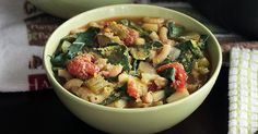 Autumn Minestrone. Nothing says comfort food like a hearty bowl of soup. Curling up on the couch with a great book or movie and a steaming bowl of this twist on minestrone is heaven on any night of the week. Full of healthy veggies and lots of flavor, this soup eats like a meal!