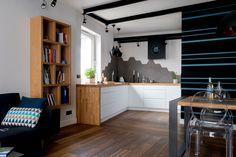 Mieszkanie na Bemowie - kuchnia - tryc.pl #kitchen #steel #table