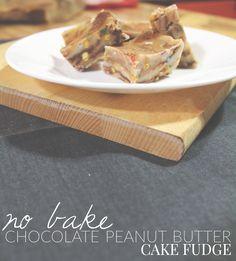 No Bake Chocolate Peanut Butter Cake Fudge – Hello Nature