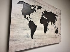Pallet map wood wall art carved world map quote sign rustic pallet map wood wall art carved world map quote sign rustic stained map to travel is to live by howdyowl on etsy wooden world maps pinterest art gumiabroncs Image collections