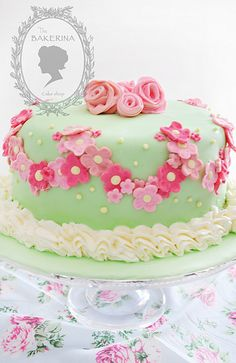 Shabby chic cake 3 | Flickr: Intercambio de fotos