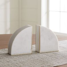 White Marble Bookends, Set of 2 at Crate and Barrel Canada. Discover unique furniture and decor from across the globe to create a look you love. Crate And Barrel, Marble Pictures, Home Remodeling Diy, Home Office Decor, Creative Home, Custom Furniture, Unique Furniture, Marble Furniture, Furniture Design