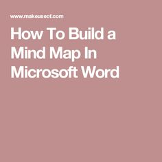 how to build a mind map in microsoft word - Best Concept Map Software
