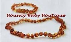 Baltic Amber Baby Teething Necklace & Anklet/Bracelet MATCHING SET - Baroque Honey by Bouncy Baby BoutiqueTM. $26.99. Baltic Amber Teething Jewelry is designed for wearing NOT CHEWING. Baltic Amber is found in and around the Baltic sea where an ancient species of trees was washed to shore to fossilize and create the unique and healing resin we know as Baltic Amber. What makes Baltic Amber so effective is it's high content of succinic acid. Succinic acid is a natural pain relie...