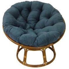 Papasan Chairs - Rattan Papasan Chair with Cushion