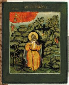 Museum of Russian Art - Icons from Yaroslavl, Russia : The Prophet Elijah in the Desert Russian Icons, Russian Art, Religious Icons, Religious Art, Greek Icons, Tribe Of Judah, Religion Catolica, Religious Paintings, European Paintings