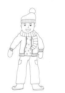 színező téli ruhadarabok