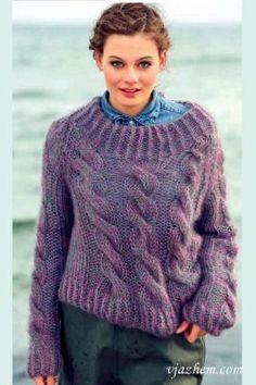 Объемный пуловер реглан