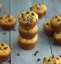 (Paleo) Choc Chip Muffins.  One mini muffin yields 88 calories, 7 grams of fat, 5 grams of carbs and 2 grams of protein