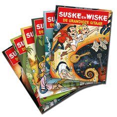 Set van 6 speciale Suske en Wiske albums, geschreven door Bekende Nederlanders en getekend door diverse striptekenaars, tgv SOS Kinderdorpen.  https://www.suskeenwiskeshop.com/speciale-uitgaven/suske-en-wiske-set-sos-kinderdorpen-nederland