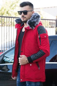 Geaca ABD Rosu Canada Goose Jackets, Winter Jackets, Fit, Casual, Style, Fashion, Winter Coats, Swag, Moda