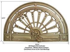 Dial Indicator - 180 Degree Position Indicator - Cast Bronze/Brass Alloy - Medium Bronze Antique