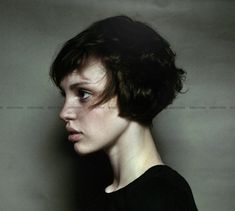 do I love this short short bangs and wispy cropped bob haircut.. or do I just love that her features are elven?