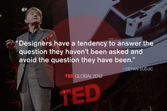 Deyan Sudjic at TEDGlobal 2012. Photo: James Duncan Davidson
