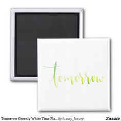 Tomorrow Greenly White Time Planner Home Office