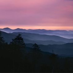 Sunrises in the Smoky Mountains are so gorgeous!