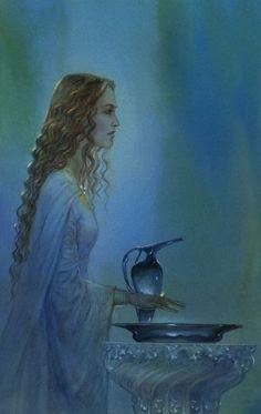 tolkienillustrations:    Galadriel by John Howe