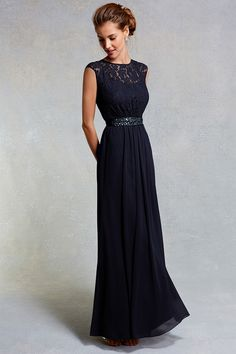 Navy Dresses | Blues LORI LEE LACE MAXI DRESS | Coast Stores Limited More
