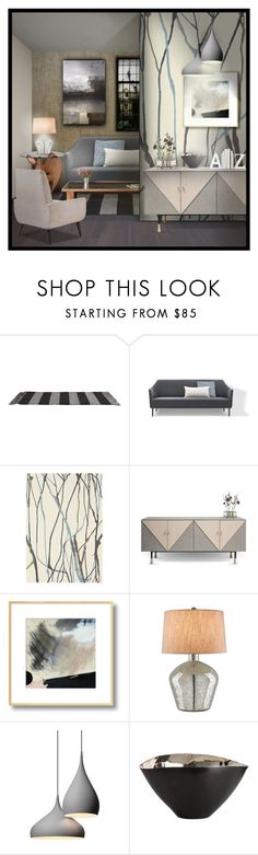 """""""Sin título #148"""" by sally-simpson ❤ liked on Polyvore featuring interior, interiors, interior design, home, home decor, interior decorating, Matta, Brink & Campman, Currey & Company and Arteriors"""