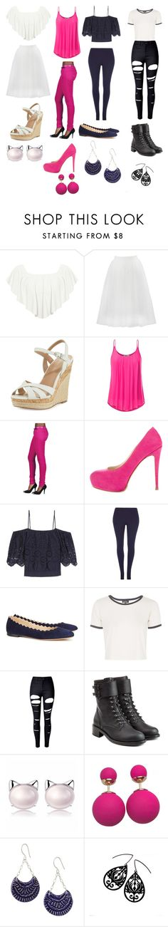 """""""Untitled #207"""" by lemondrop11 ❤ liked on Polyvore featuring WearAll, Bailey 44, Charles by Charles David, Brian Atwood, Ganni, Dorothy Perkins, Chloé, Topshop, WithChic and Philosophy di Lorenzo Serafini"""