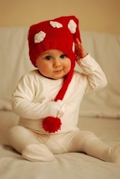 Christmas card inspiration... ordered a striped hat similar for Miss Lucy