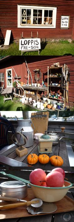 Sweden is also the country of loppis, flea markets.  Rustic, winding Road 223.