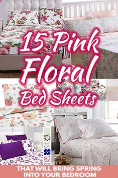 15 Pink Floral Bed Sheets That Will Bring Spring Into Your Bedroom. Article by HomeDecorBliss.com #HDB #HomeDecorBliss #homedecor #homedecorideas