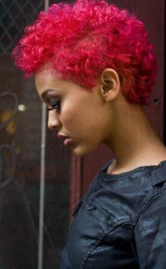Bold color natural hair!