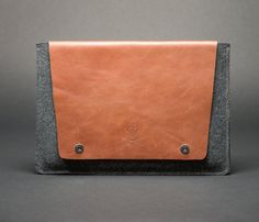 Items similar to Macbook Pro/Air Case , Macbook leather sleeve , Mac Case - Minimalistic Macbook Case from BROWN Italian leather and wool felt. on Etsy Macbook 15, Paper Envelopes, Computer Case, Italian Leather, Wool Felt, Minimalist, Gifts, Handmade, Etsy