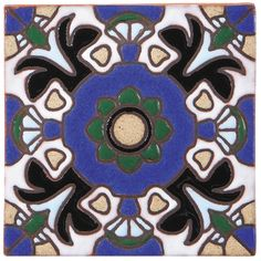 Get A SampleHandpainted Cuerda Seca California Revival Tile for interior or exterior applications.Nominal Size: x Thickness: Material Color Palette, Rustic Elegance, Hand Painted Ceramics, Pool Houses, Tiles, Kids Rugs, Interior, California, Handmade