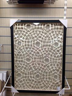 Linen/paper wall art. Home Goods Store, Paper Wall Art, Divider, Entryway, Living Room, Wallpaper, Furniture, Home Decor, Entrance