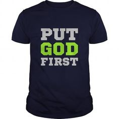 Put God First Great Gift For Any Christian T Shirts, Hoodies. Check price ==► https://www.sunfrog.com/Faith/Put-God-First-Great-Gift-For-Any-Christian-Navy-Blue-Guys.html?41382