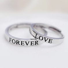 Forever Love His and Hers Couples Promise Rings